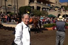Gail in the Paddock in Del Mar