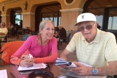 Rosy and Gail handicapping at Del Mar