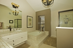 This master bath is in its original condition.