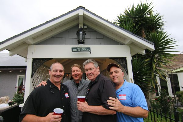 """The Boys of Whispering Palms"" showing off the carriage house."